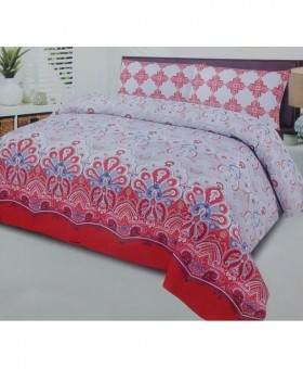 Multi Color Cotton King Size Bedsheet SY-57