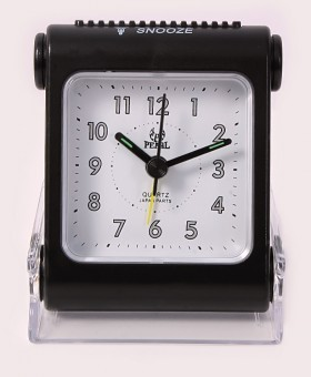 Pearl  Travelling Black Alarm Clock B-11