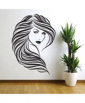 40x55 Woman Face Wall Stickers