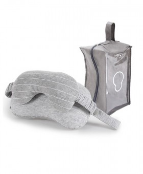 XC USHIO 2 in 1 Light Grey Travel Neck Pillow